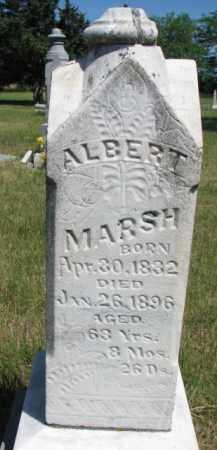 MARSH, ALBERT - Burt County, Nebraska | ALBERT MARSH - Nebraska Gravestone Photos