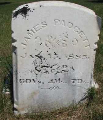 PADGETT, JAMES - Burt County, Nebraska | JAMES PADGETT - Nebraska Gravestone Photos