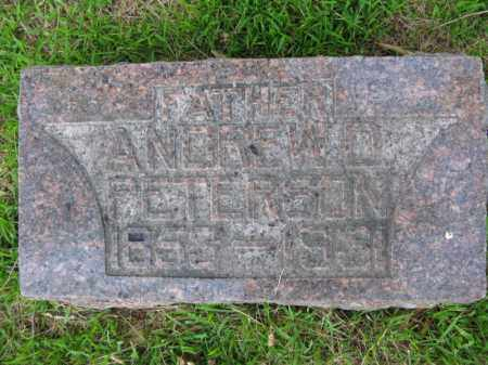 PETERSON, ANDREW D. - Burt County, Nebraska | ANDREW D. PETERSON - Nebraska Gravestone Photos