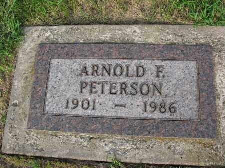 PETERSON, ARNOLD F. - Burt County, Nebraska | ARNOLD F. PETERSON - Nebraska Gravestone Photos