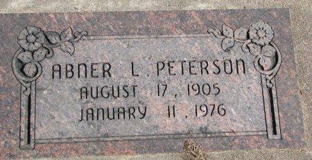 PETERSON, ABNER L. - Burt County, Nebraska | ABNER L. PETERSON - Nebraska Gravestone Photos