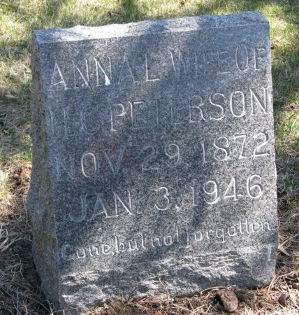 PETERSON, ANNA LOUISE - Burt County, Nebraska | ANNA LOUISE PETERSON - Nebraska Gravestone Photos