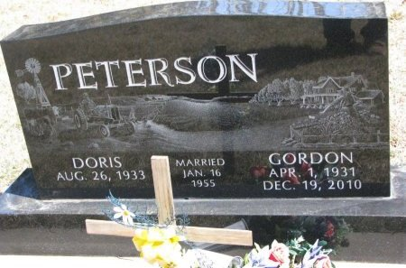 PETERSON, GORDON - Burt County, Nebraska | GORDON PETERSON - Nebraska Gravestone Photos