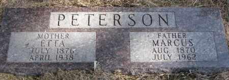 PETERSON, ETTA - Burt County, Nebraska | ETTA PETERSON - Nebraska Gravestone Photos