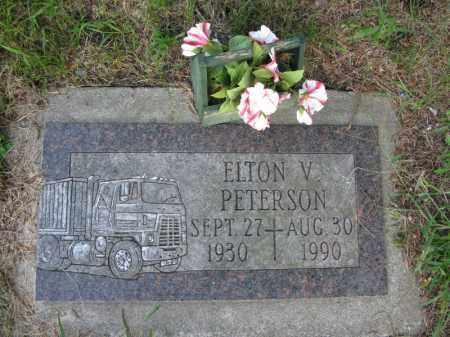 PETERSON, ELTON V. - Burt County, Nebraska   ELTON V. PETERSON - Nebraska Gravestone Photos