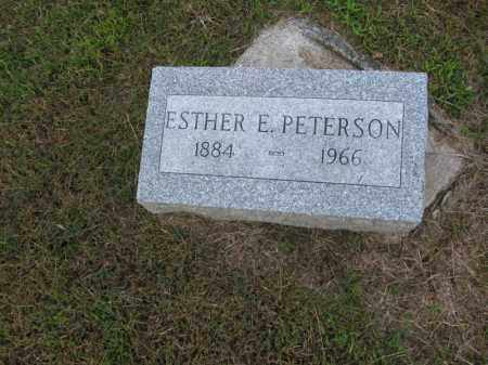 PETERSON, ESTHER E. - Burt County, Nebraska   ESTHER E. PETERSON - Nebraska Gravestone Photos