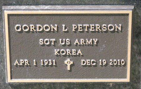 PETERSON, GORDON L. (MILITARY) - Burt County, Nebraska | GORDON L. (MILITARY) PETERSON - Nebraska Gravestone Photos