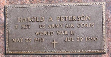 PETERSON, HAROLD A. - Burt County, Nebraska | HAROLD A. PETERSON - Nebraska Gravestone Photos