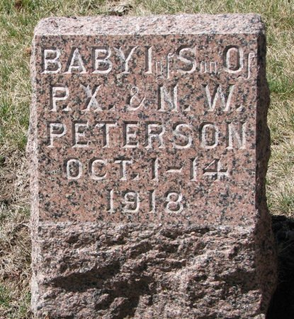 PETERSON, INFANT SON - Burt County, Nebraska | INFANT SON PETERSON - Nebraska Gravestone Photos