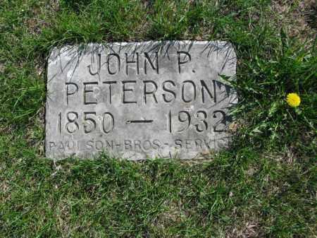 PETERSON, JOHN P. - Burt County, Nebraska   JOHN P. PETERSON - Nebraska Gravestone Photos