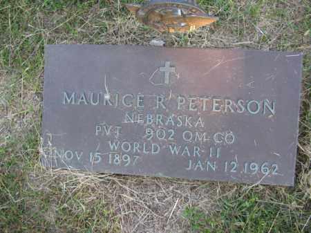 PETERSON, MAURICE R. - Burt County, Nebraska   MAURICE R. PETERSON - Nebraska Gravestone Photos