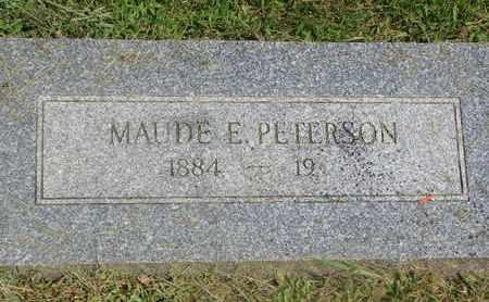 PETERSON, MAUDE E. - Burt County, Nebraska | MAUDE E. PETERSON - Nebraska Gravestone Photos