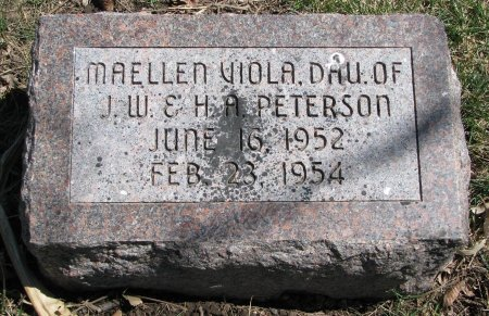 PETERSON, MAELLEN VIOLA - Burt County, Nebraska | MAELLEN VIOLA PETERSON - Nebraska Gravestone Photos