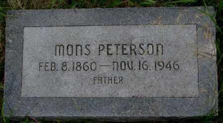PETERSON, MONS - Burt County, Nebraska | MONS PETERSON - Nebraska Gravestone Photos