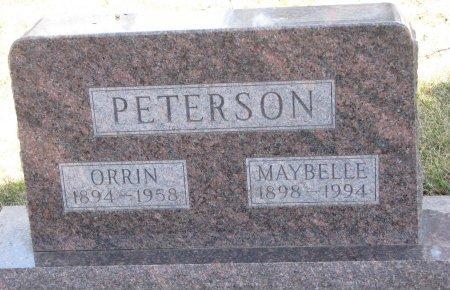 PETERSON, ORRIN - Burt County, Nebraska | ORRIN PETERSON - Nebraska Gravestone Photos