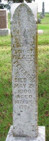 PETERSON, OSCAR - Burt County, Nebraska   OSCAR PETERSON - Nebraska Gravestone Photos