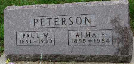 PETERSON, PAUL W. - Burt County, Nebraska | PAUL W. PETERSON - Nebraska Gravestone Photos
