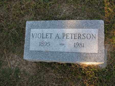 PETERSON, VIOLET A. - Burt County, Nebraska | VIOLET A. PETERSON - Nebraska Gravestone Photos