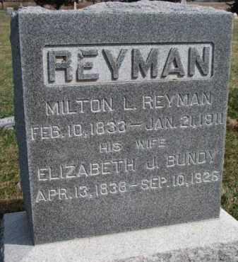 REYMAN, ELIZABETH J. - Burt County, Nebraska | ELIZABETH J. REYMAN - Nebraska Gravestone Photos
