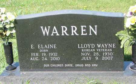 DORN WARREN, E. ELAINE - Burt County, Nebraska   E. ELAINE DORN WARREN - Nebraska Gravestone Photos