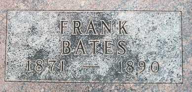 BATES, FRAMK - Cass County, Nebraska   FRAMK BATES - Nebraska Gravestone Photos
