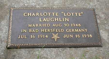 LAUGHLIN, CHARLOTTE - Cass County, Nebraska | CHARLOTTE LAUGHLIN - Nebraska Gravestone Photos