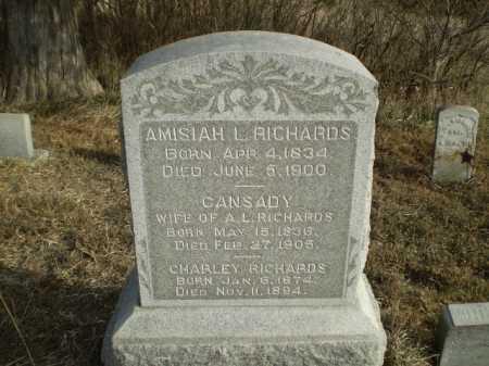 RICHARDS, CANSADY - Cass County, Nebraska | CANSADY RICHARDS - Nebraska Gravestone Photos