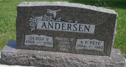 ANDERSEN, GERDA V - Cedar County, Nebraska | GERDA V ANDERSEN - Nebraska Gravestone Photos