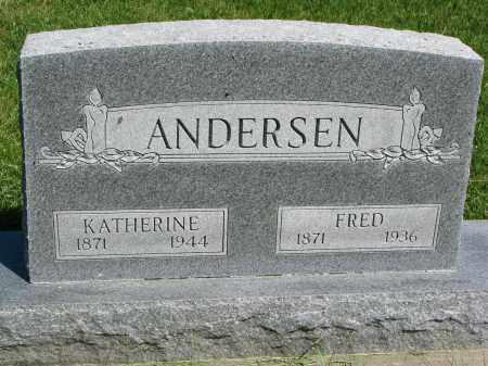 ANDERSEN, KATHERINE - Cedar County, Nebraska | KATHERINE ANDERSEN - Nebraska Gravestone Photos