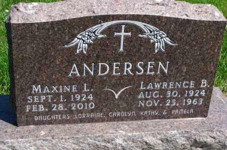 ANDERSEN, MAXINE L. - Cedar County, Nebraska   MAXINE L. ANDERSEN - Nebraska Gravestone Photos