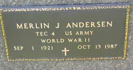 ANDERSEN, MERLIN J. (WW II) - Cedar County, Nebraska | MERLIN J. (WW II) ANDERSEN - Nebraska Gravestone Photos