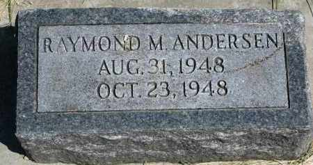 ANDERSEN, RAYMOND M. - Cedar County, Nebraska | RAYMOND M. ANDERSEN - Nebraska Gravestone Photos