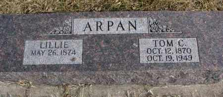 ARPAN, TOM C. - Cedar County, Nebraska   TOM C. ARPAN - Nebraska Gravestone Photos