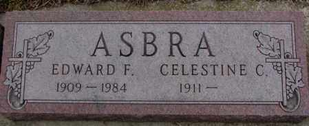 ASBRA, EDWARD F. - Cedar County, Nebraska | EDWARD F. ASBRA - Nebraska Gravestone Photos
