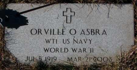 ASBRA, ORVILLE O. (WW II) - Cedar County, Nebraska | ORVILLE O. (WW II) ASBRA - Nebraska Gravestone Photos