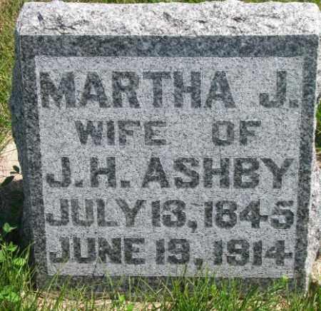 ASHBY, MARTHA J. - Cedar County, Nebraska | MARTHA J. ASHBY - Nebraska Gravestone Photos
