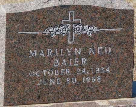 BAIER, MARILYN - Cedar County, Nebraska | MARILYN BAIER - Nebraska Gravestone Photos