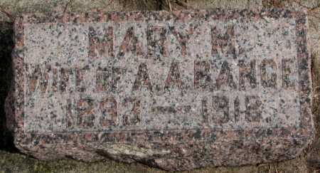 THIES BANGE, MARY M - Cedar County, Nebraska   MARY M THIES BANGE - Nebraska Gravestone Photos