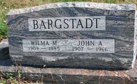 BARGSTADT, WILMA M. - Cedar County, Nebraska | WILMA M. BARGSTADT - Nebraska Gravestone Photos