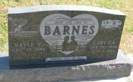 BARNES, VAYLE V. - Cedar County, Nebraska | VAYLE V. BARNES - Nebraska Gravestone Photos