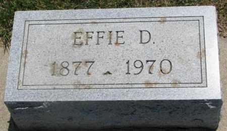BEATON, EFFIE D. - Cedar County, Nebraska | EFFIE D. BEATON - Nebraska Gravestone Photos