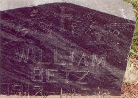 BETZ, WILLIAM - Cedar County, Nebraska   WILLIAM BETZ - Nebraska Gravestone Photos