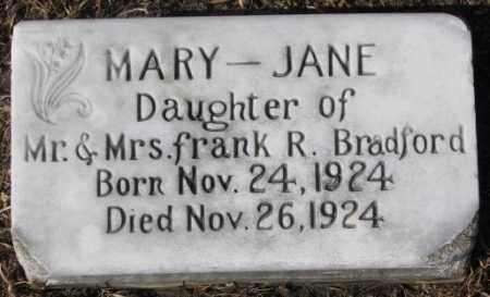 BRADFORD, MARY JANE - Cedar County, Nebraska | MARY JANE BRADFORD - Nebraska Gravestone Photos