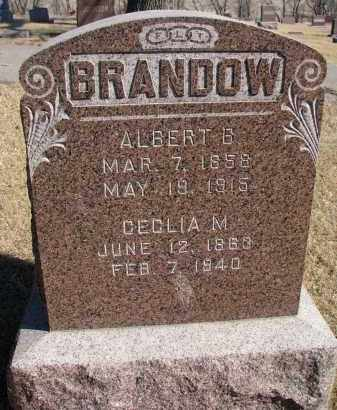 BRANDOW, ALBERT B. - Cedar County, Nebraska | ALBERT B. BRANDOW - Nebraska Gravestone Photos
