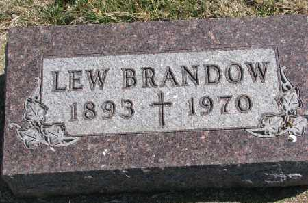 BRANDOW, LEW - Cedar County, Nebraska | LEW BRANDOW - Nebraska Gravestone Photos