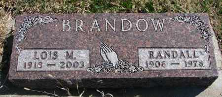 BRANDOW, RANDALL - Cedar County, Nebraska | RANDALL BRANDOW - Nebraska Gravestone Photos