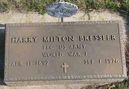 BRESSLER, HARRY MILTON (WW I MARKER) - Cedar County, Nebraska   HARRY MILTON (WW I MARKER) BRESSLER - Nebraska Gravestone Photos