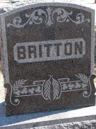 BRITTON, FAMILY STONE - Cedar County, Nebraska | FAMILY STONE BRITTON - Nebraska Gravestone Photos