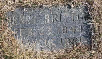 BRITTON, HENRY - Cedar County, Nebraska | HENRY BRITTON - Nebraska Gravestone Photos