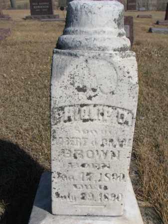 BROWN, PHILLIP O OR D - Cedar County, Nebraska | PHILLIP O OR D BROWN - Nebraska Gravestone Photos
